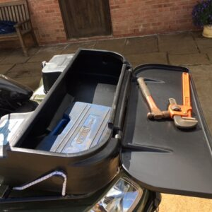 Front storage box tool box for quad bike