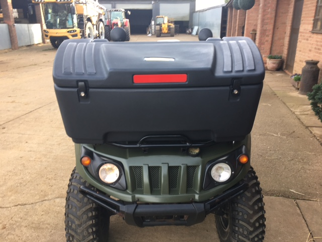 Moose lockable storage box for quad bike